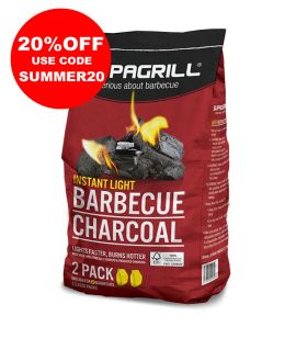 Supagrill Instant Light Barbecue Charcoal - 2 x 850g