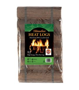 Homefire Ready to Burn Heat Logs Shimada Pack of 12
