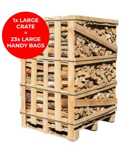 Large Crate of Kiln Dried Logs